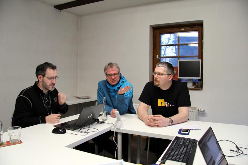 Die Diskussion beim well-staffed Treffen