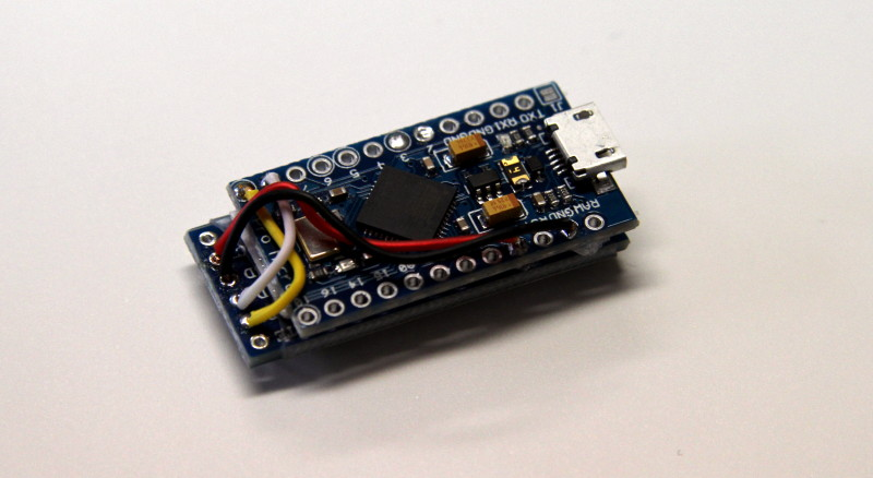 Der Prototyp des USB-HID-Emulators