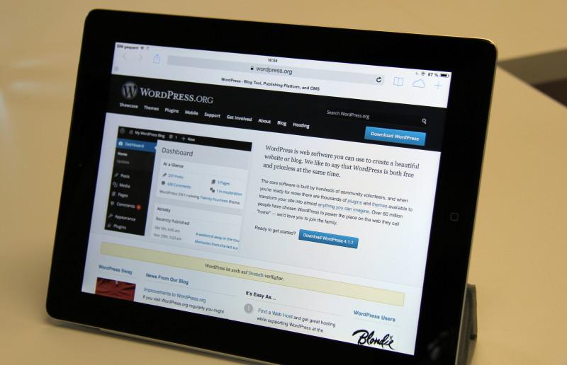 Auch WordPress ist Thema der Fachgruppe