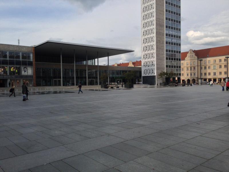 Noch ist der Marktplatz leer