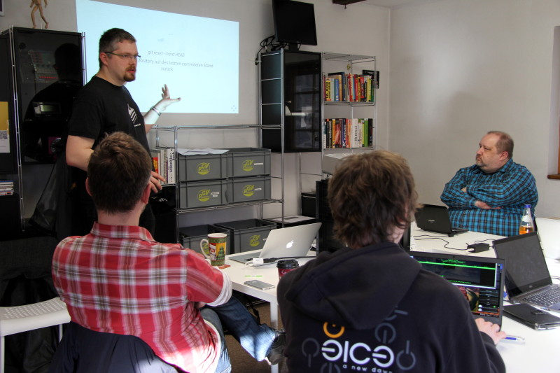 Der Git-Vortrag behandelte natürlich auch die Git-Kommandos