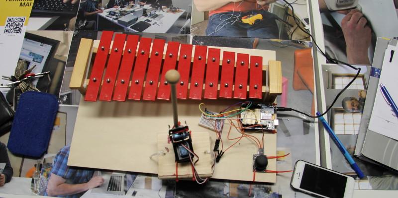Die Software für das automatische Xylophon wurde verbessert