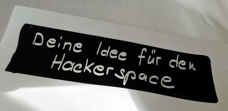 Deine Ideen für den Hackerspace kannst du heute wieder bei uns loswerden