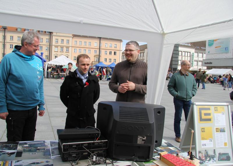 Auch der Oberbürgermeister Neubrandenburgs, Silvio Witt, interessierte sich für unseren Stand