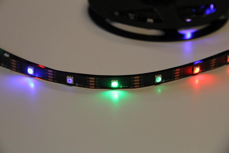 Unter anderem wurde mit LED-Streifen experimentiert