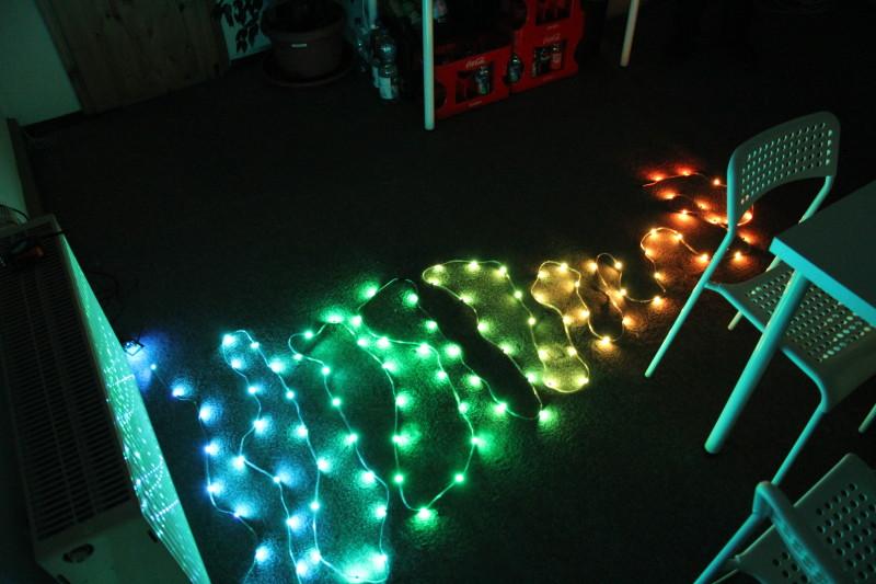 Programmierbare Lichter waren wieder ein Thema des Abends