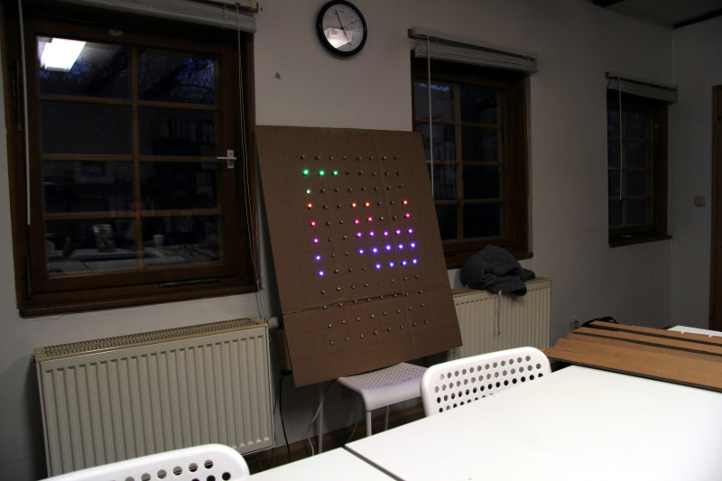 Die LED Matrix in Aktion